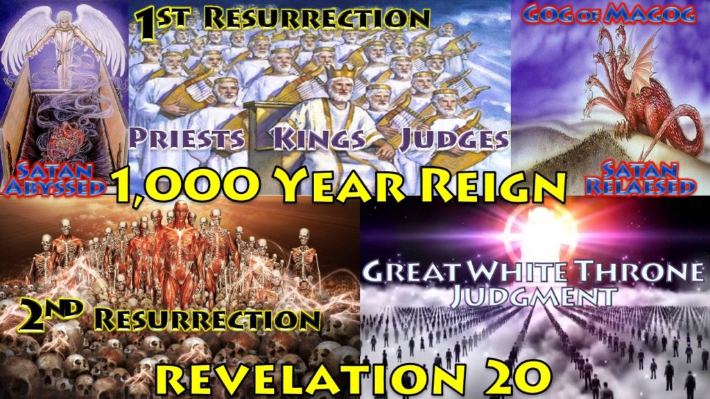 Great White Throne,Judgment,Angel,key,chain,bound,devil,thousand years,thousand year reign,abyss,book of revelation,chapter 20,false prophet,beast,lake of fire,second death,dead,resurrection,scrolls,books,book of life,gog of magog,revelationscriptures.com,sand of sea