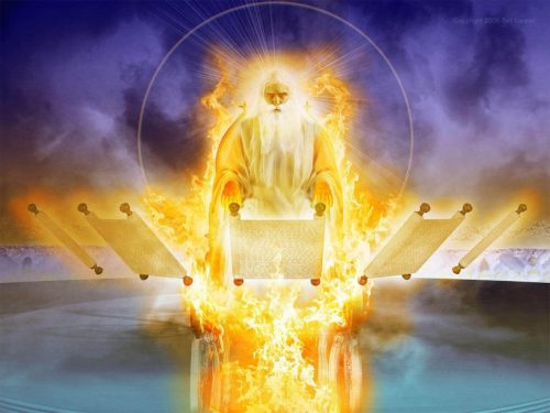 Great White Throne,Judgment,Angel,key,chain,bound,devil,thousand years,thousand year reign,abyss,book of revelation,chapter 20,false prophet,beast,lake of fire,second death,dead,resurrection,scrolls,books,book of life,gog of magog,revelationscriptures.com