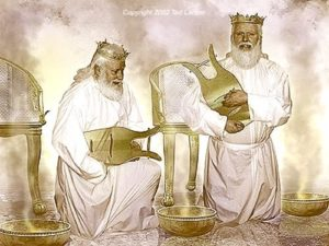 Twentyfour Elders Harps Golden Bowls Throne Seven seals Revelation